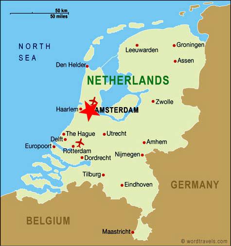 Ubicación Holanda