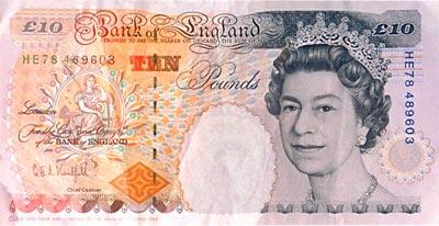 Billete de 10 Libras