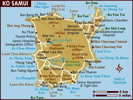 Ko Samui Map