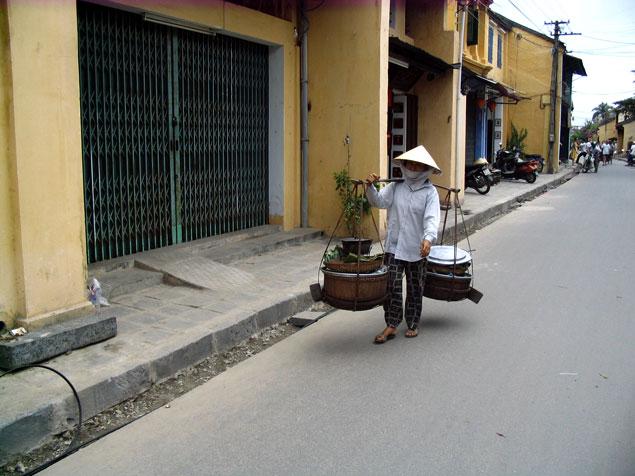 Vendedora ambulante
