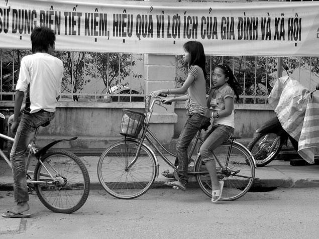 Jovenes en Bicicleta