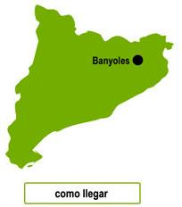 Ubicacion de Banyoles en Catalunya