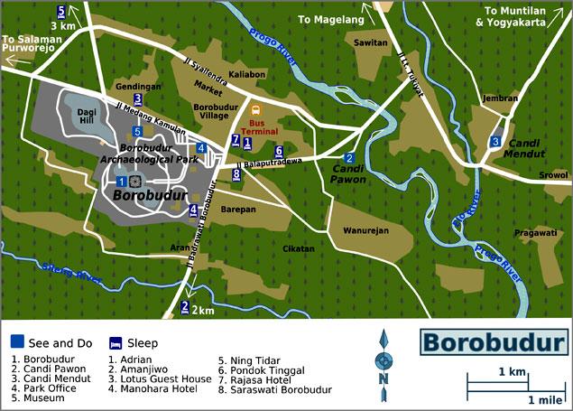 Mapa del parque arqueológico