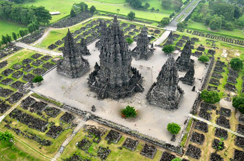 Recreación de Prambanan