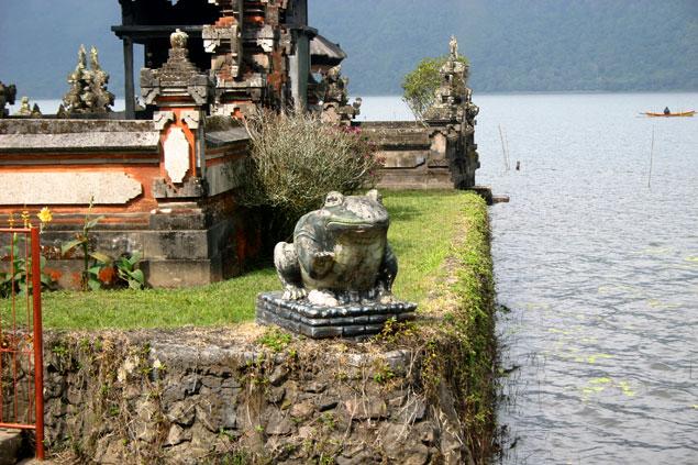Rana custodiando templo