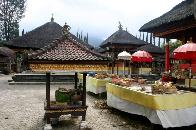 Ofrendas en el templo
