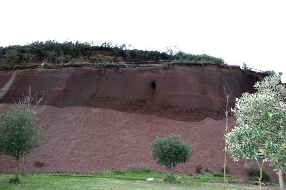Zona arcillosa , de el Volcán el Croscat