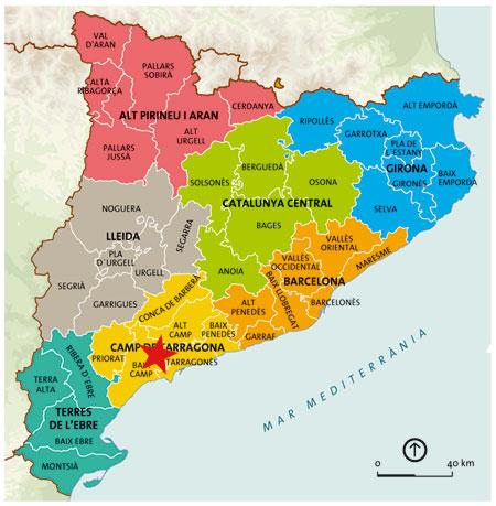 tarragona mapa Tarragona (Catalunya) Informacion y mapa   tarragona mapa