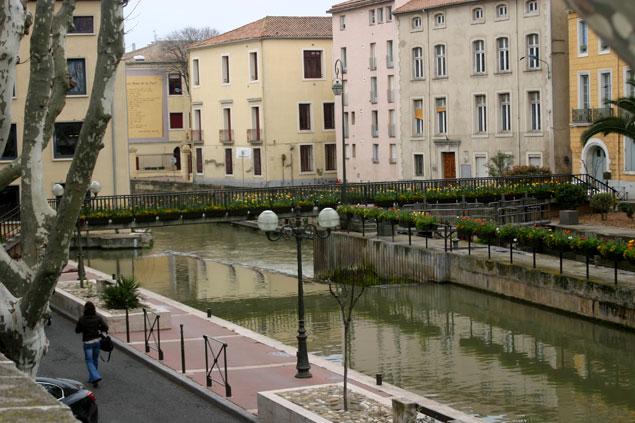 El río aude a su paso por Narbonne