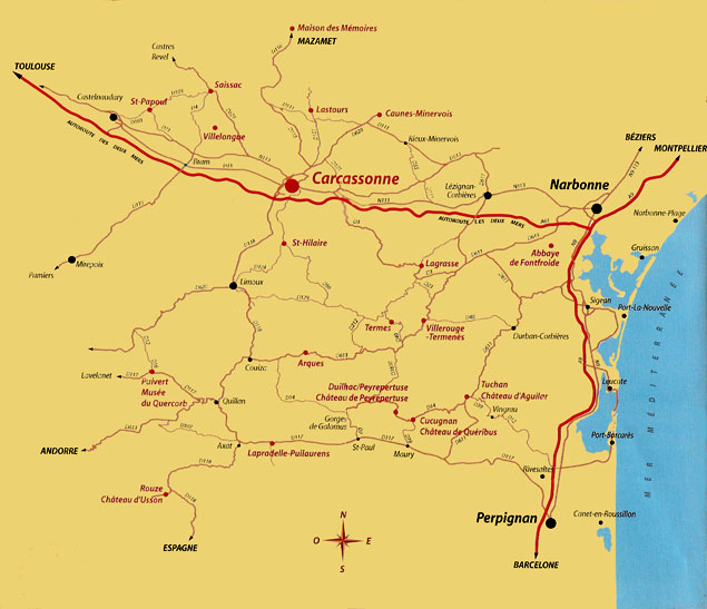 Ruta hasta Carcassonne