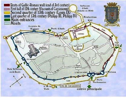 Mapa de la ciudad amurallada
