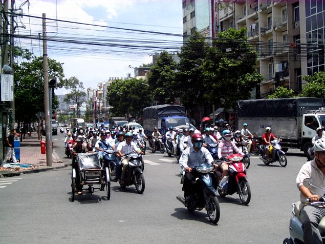 Las motos inundan la ciudad