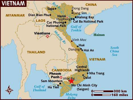 Ubicacion Ho Chi Minh