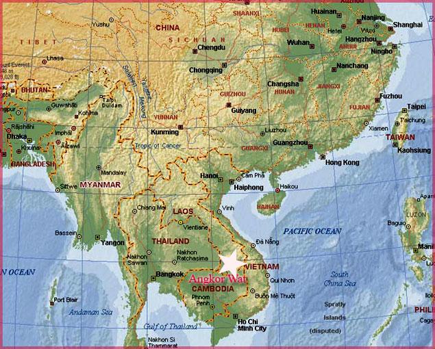 camboya (informacion y mapa)