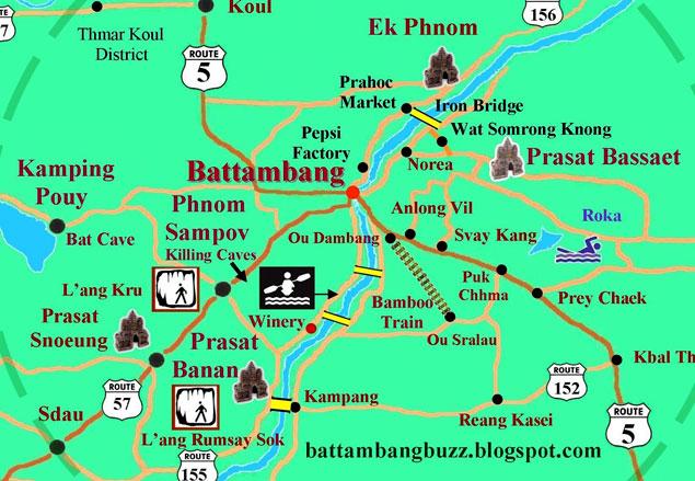 Plano turístico de battambang