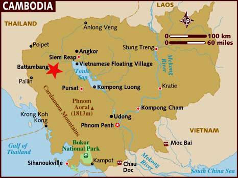 Ubicación Battambang