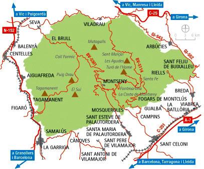 Extensión del Montseny