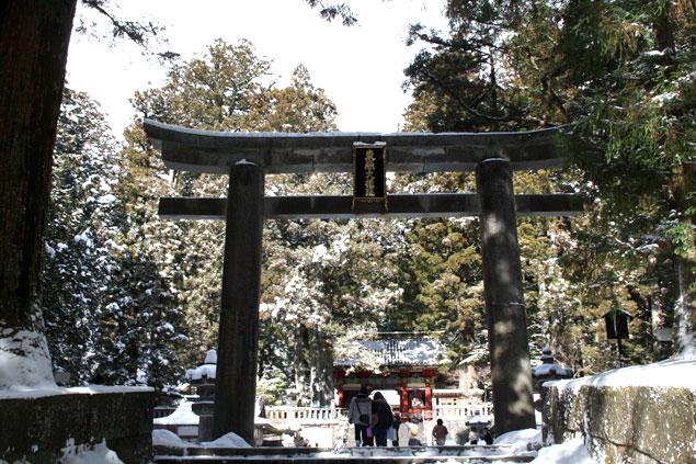 Torii de entrada al Toshu-Gu