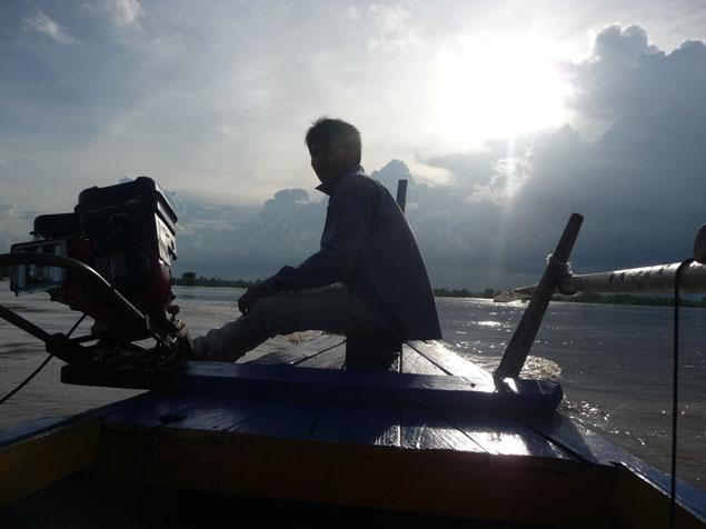 Atardeciendo en el Mekong