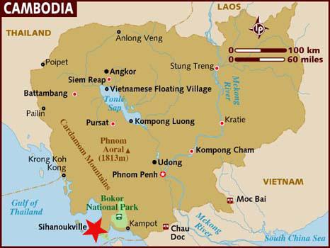 Ubicación Camboya