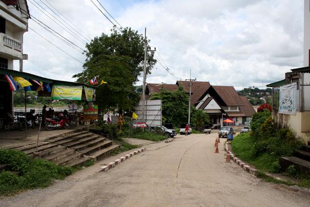Zona fronteriza en el lado tailandés