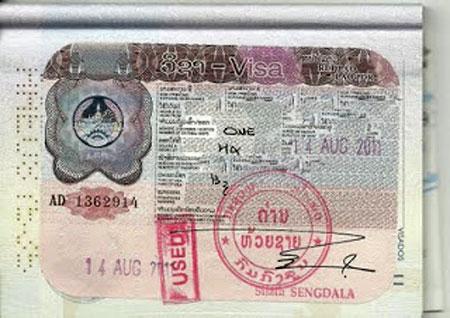 Visado para Laos