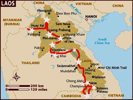 Nuestro itinerario por Laos