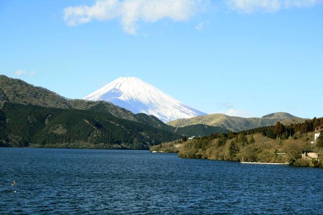 Fuji tras el lago