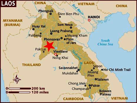 Ubicación Vang Vieng