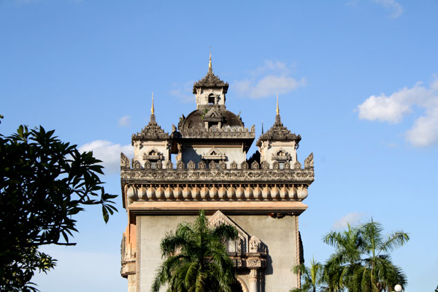 El arco del triumfo de Laos