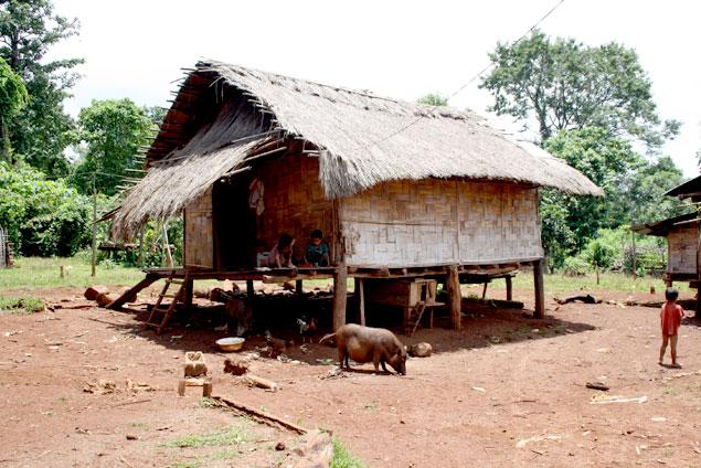Casas de la aldea Katu