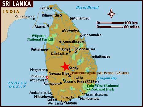 Ubicación Kandy