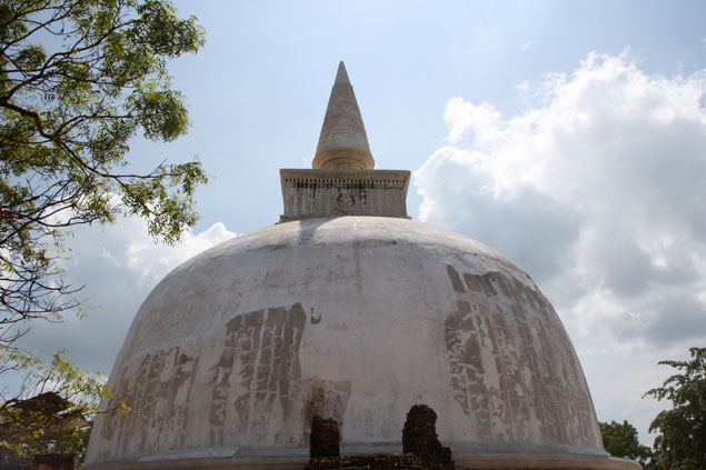 Dagoba budista Blanca