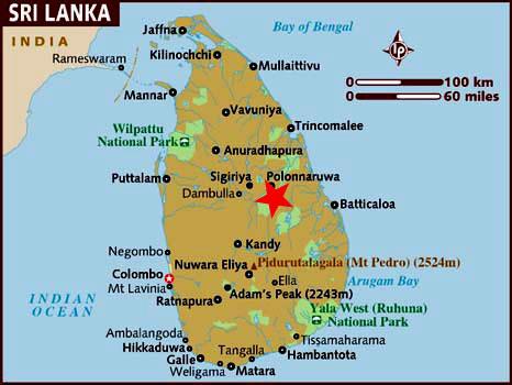 Ubicación Polonnaruwa