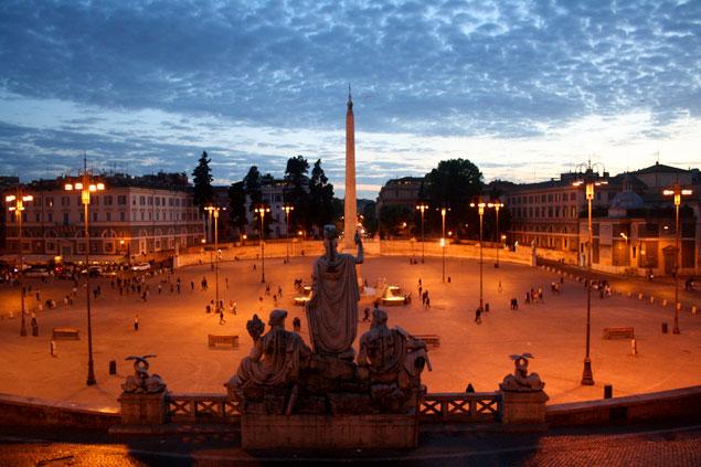 Vistas de la Piazza del Popolo