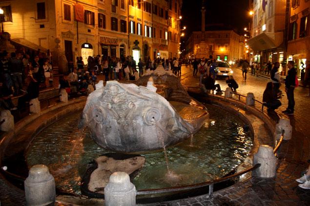 La famosa fuente de la Plaza España
