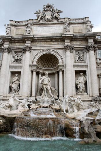 La famosa Fontana di Trevi