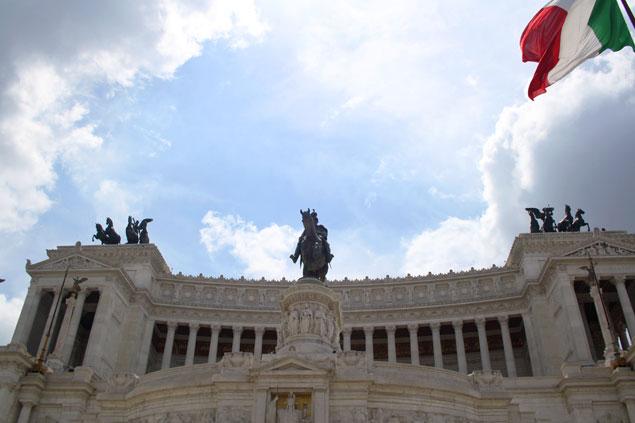 La famosa Piazza Venezia