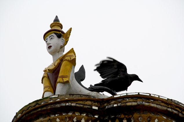 Buda acompañado por los cuervos