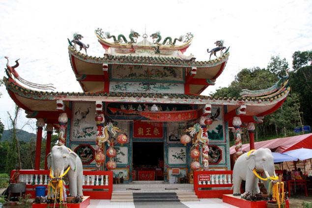 Templo chino en la isla
