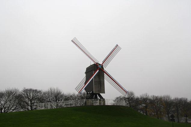 Uno de los famosos molinos de la ciudad