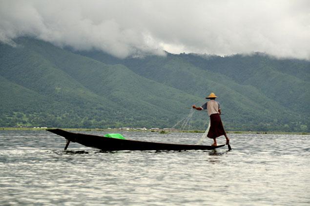 Imagen de pescador del Lago Inle