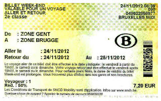 Ticket Bruselas- Gante