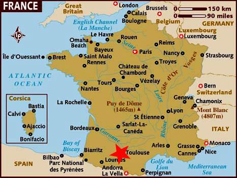 toulouse mapa Toulouse (Francia) información y mapa toulouse mapa
