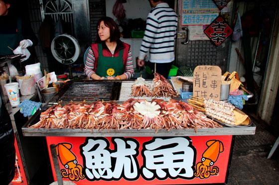 itinerario por Taiwan , comida callejera