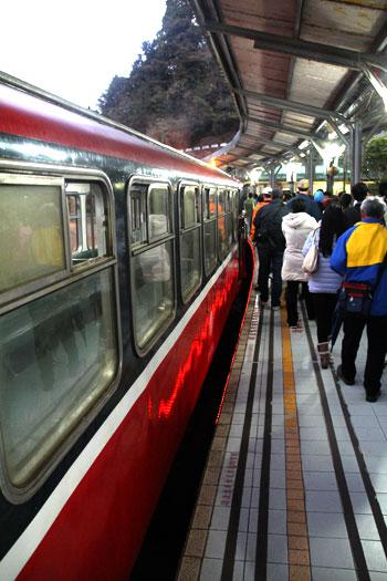 itinerario por Taiwan , en ruta en tren
