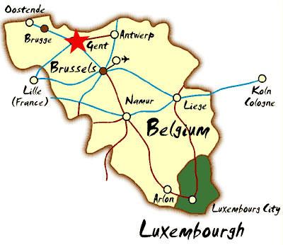 gent belgica mapa Gante (Belgica) informacion y mapa gent belgica mapa
