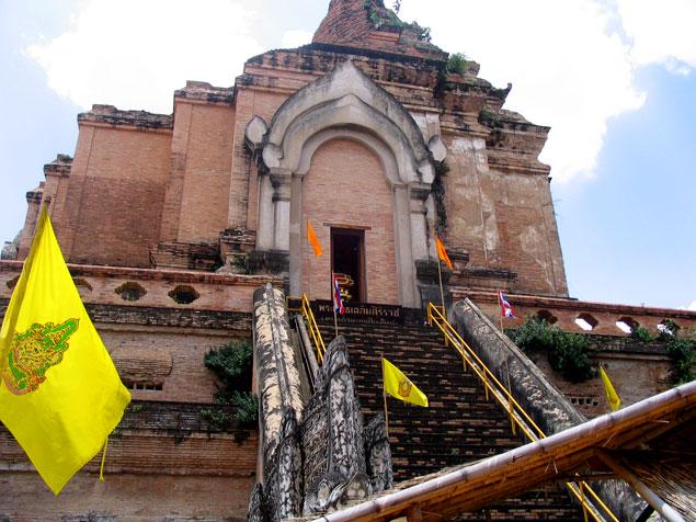 Cara norte del Wat Chedi Luang