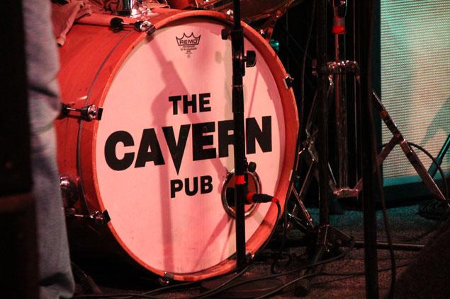Bateria en The Cavern Pub, donde tocaban los Beatles