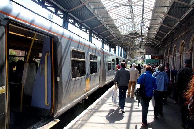 Andén de la estación de Chester